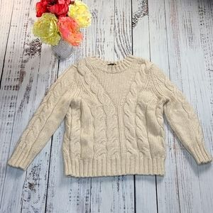 Ann Taylor Cable Knit Sweater, Size SP